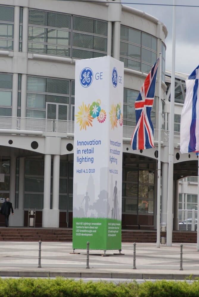 GE exhibition banner